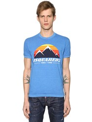 Dsquared Mountain Printed Cotton Jersey T Shirt
