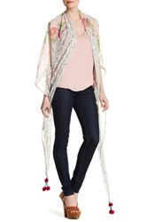 Steve Madden Mixed Print Triangle Scarf Pink