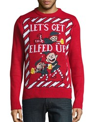 American Stitch Elfed Up Ugly Christmas Sweater Red