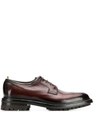 Officine Creative Lace Up Derby Shoes Red