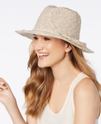 Vince Camuto Tasseled Packable Hat Ivory