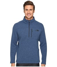 The North Face Gordon Lyons 1 4 Zip Pullover Shady Blue Heather Men's Long Sleeve Pullover