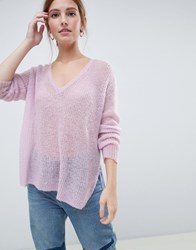 Minimum Moves By V Neck Jumper Purple