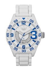 Adidas Men's Newburgh Chronograph Watch White With Pops Of Blue