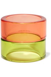 Dries Van Noten Set Of Two Perspex Bangles Orange