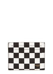 Givenchy Monochrome Checked Leather Card Holder Black And White