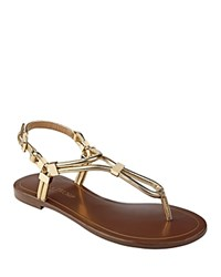 Ivanka Trump Ashanti Thong Sandals Gold Gold