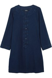 A.P.C. Atelier De Production Et De Creation Louxor Denim Mini Dress Indigo