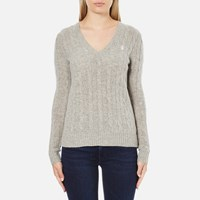 Polo Ralph Lauren Women's Kimberly Cashmere Blend Jumper Light Vintage Heather
