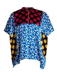 Duro Olowu Ivy Contrast Panel Silk Top Multi