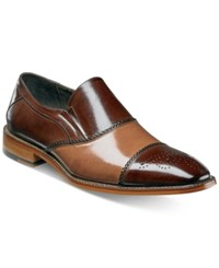 Stacy Adams Men's Brecklin Cap Toe Slip On Loafers Men's Shoes Tan