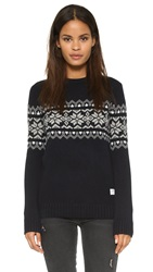Penfield Hickman Snowflake Crew Sweater Navy