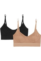 Baserange Net Sustain Set Of Two Stretch Bamboo Soft Cup Bras Black