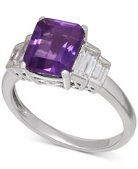 Macy's Amethyst 2 1 6 Ct. T.W. And White Topaz 1 1 2 Ct. T.W. Ring In Sterling Silver