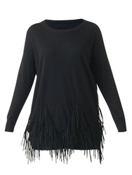 Red Soul Drawstring Embellished Pullover Black