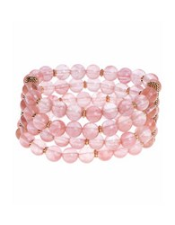 Lonna And Lilly Cherry Quartz Beaded Stretch Bracelet Pink