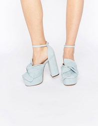 Asos Puppet Show Platforms Denim Blue