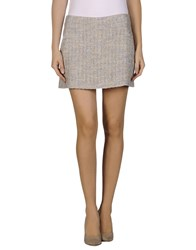 Theyskens' Theory Skirts Mini Skirts Women Light Grey