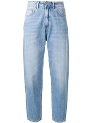 Haikure Cropped Boyfriend Jeans Blue