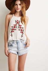 Forever 21 Bleached Denim Cutoffs Light Denim