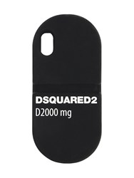 Dsquared Pils Leather Iphone X Cover Black