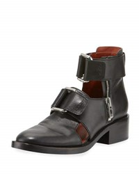 3.1 Phillip Lim Addis Cutout Leather Buckle Boot Black