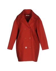 Sessun Coats And Jackets Full Length Jackets Women Brick Red