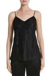 Lafayette 148 New York Women's Tiffy Hand Beaded Lace And Charmeuse Blouse Black