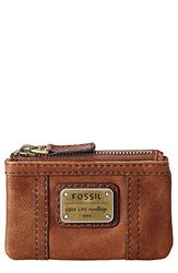 Women's Fossil 'Emory' Zip Coin Pouch Brown Saddle