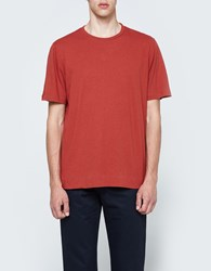 Mhl Basic T Shirt In Faded Red