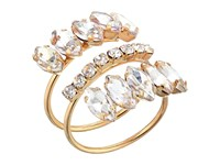 Guess Pave Band Ring With Marquise Stones Gold Crystal Ring