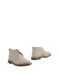 Woolrich Woolen Mills High Top Dress Shoes Light Grey