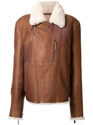 Yves Salomon Homme Shearling Jacket Brown