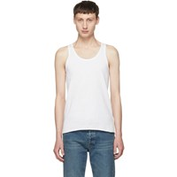 Maison Martin Margiela Three Pack White Stereotype Tank Top