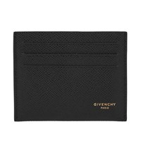 Givenchy Textured Eros Leather Card Wallet Black