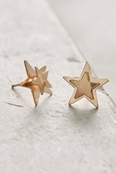 Anthropologie Double Star Post Earrings Gold