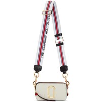 Marc Jacobs Red And White Small Snapshot Bag