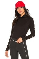 Ivy Park Armour Poppers Top Black