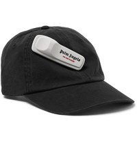 Palm Angels Embellished Cotton Twill Baseball Cap Black