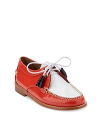 G.H. Bass Winnie Patent Leather Oxfords Poppy White