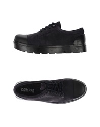 Camper Lace Up Shoes Dark Blue