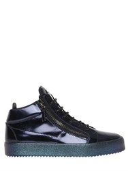 Giuseppe Zanotti Iridescent Sole Brushed Leather Sneakers