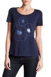 Tommy Bahama Seaport Floral Tee Blue