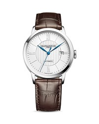 Baume And Mercier Classima Watch 40Mm Silver Brown
