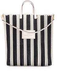 Anya Hindmarch Neeson Striped Tote Bag Black