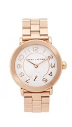Marc Jacobs New Classic Tbd Watch Rose Gold White