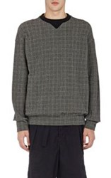 Sacai Glen Plaid Sweatshirt Green