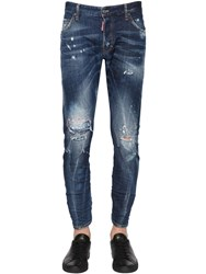 Dsquared 16Cm Sexy Twist Stitched Denim Jeans