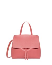 Mansur Gavriel Mini Lady Saffiano Satchel Bag Pink