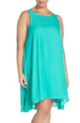 Plus Size Women's Bb Dakota 'Nashton' High Low Trapeze Dress